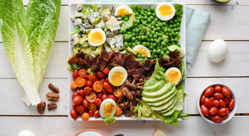 Spring Pea Cobb Salad with Glazed Pecans