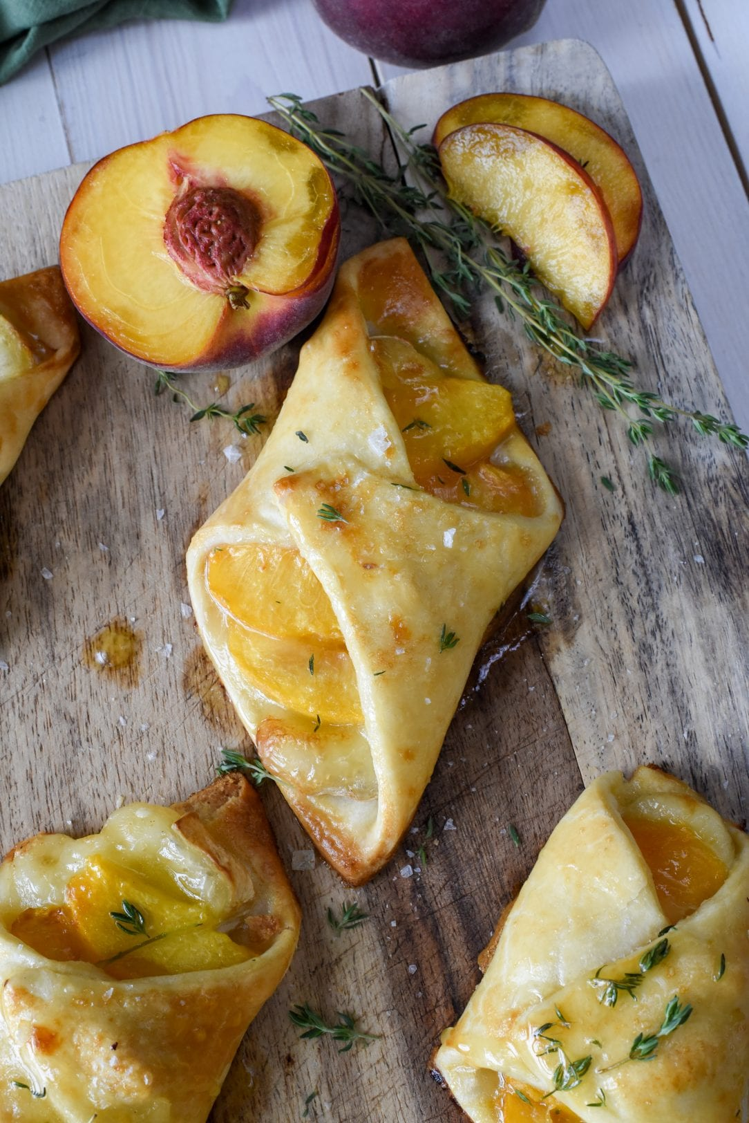 Peach Brie Hand Pies with Thyme Honey