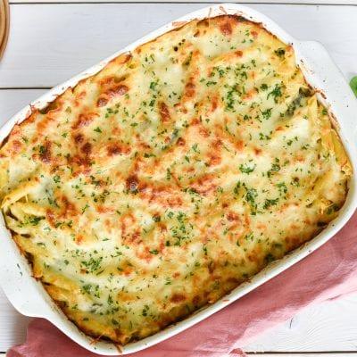 One Pot Chicken Florentine Alfredo Bake