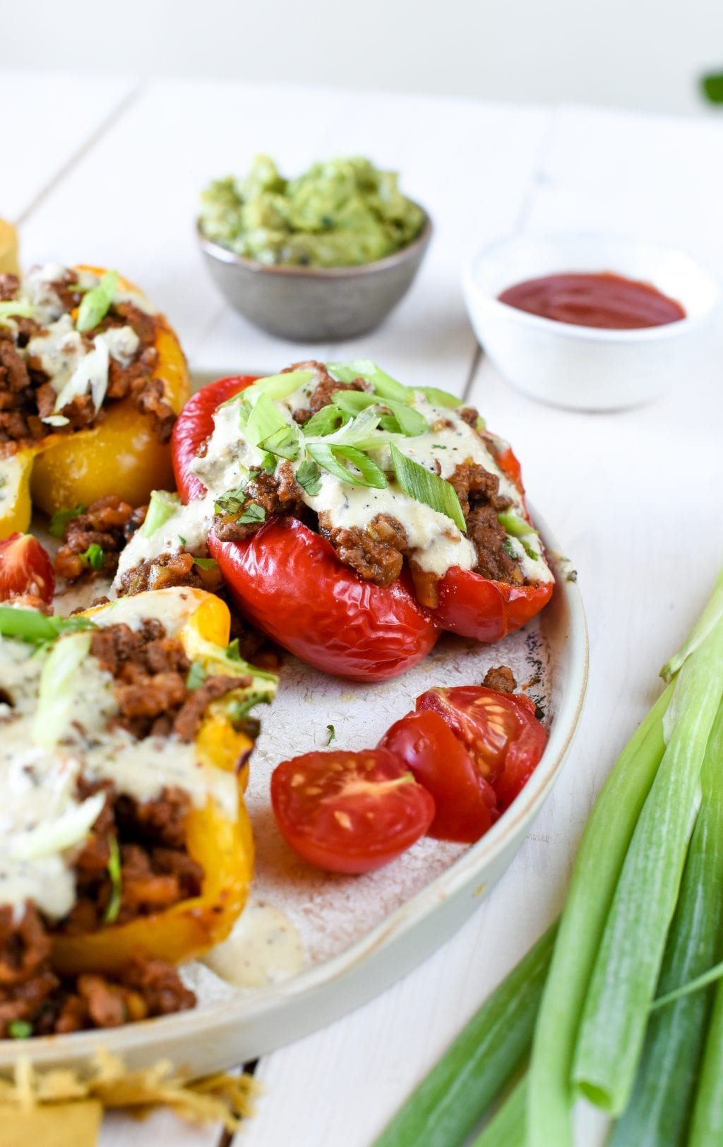 healthy whole30 stuffed peppers