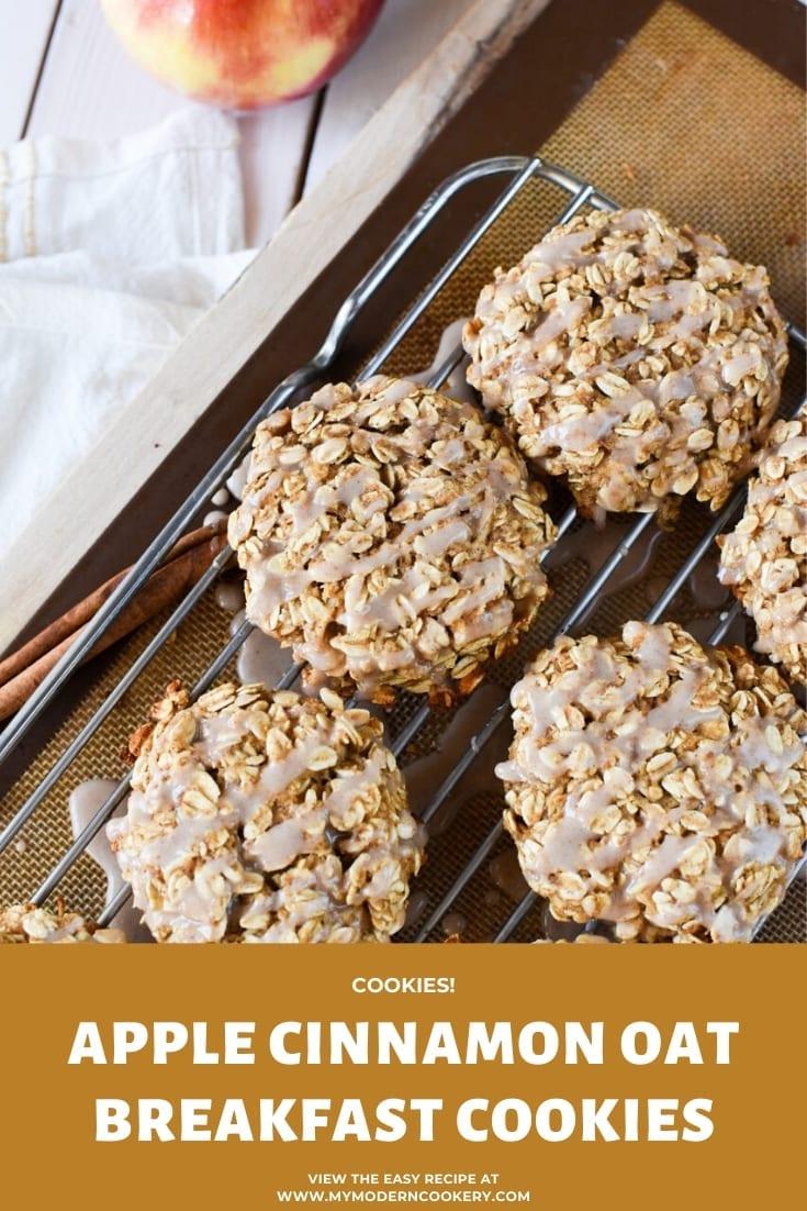 Apple Cinnamon Oat Breakfast Cookies