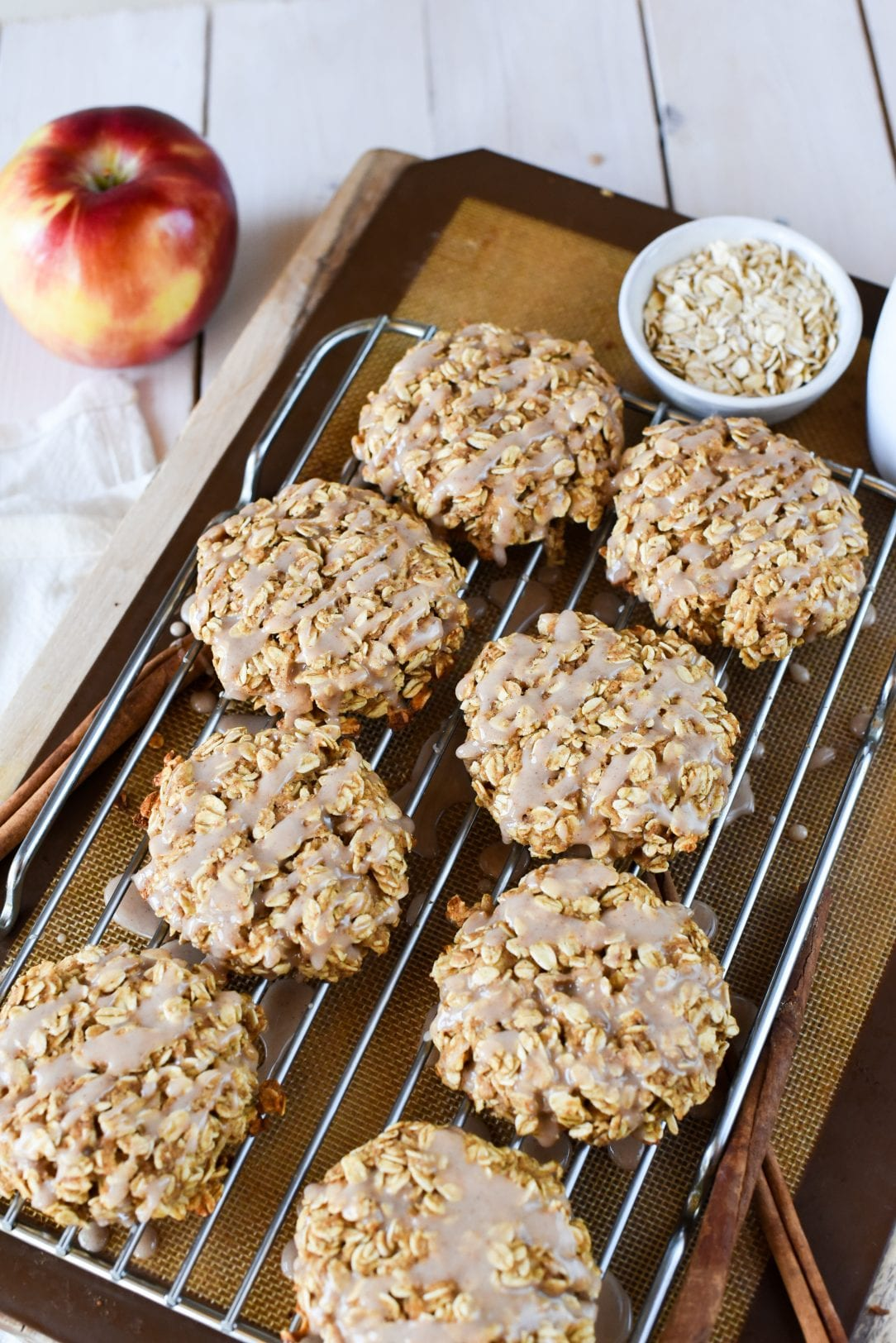 Apple Cinnamon Oat Breakfast Cookies