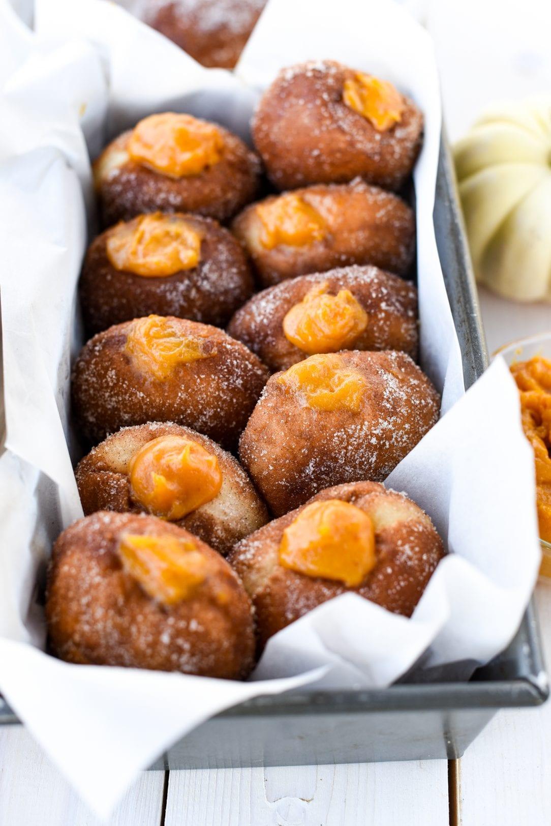 Easy Pumpkin Creme Donuts