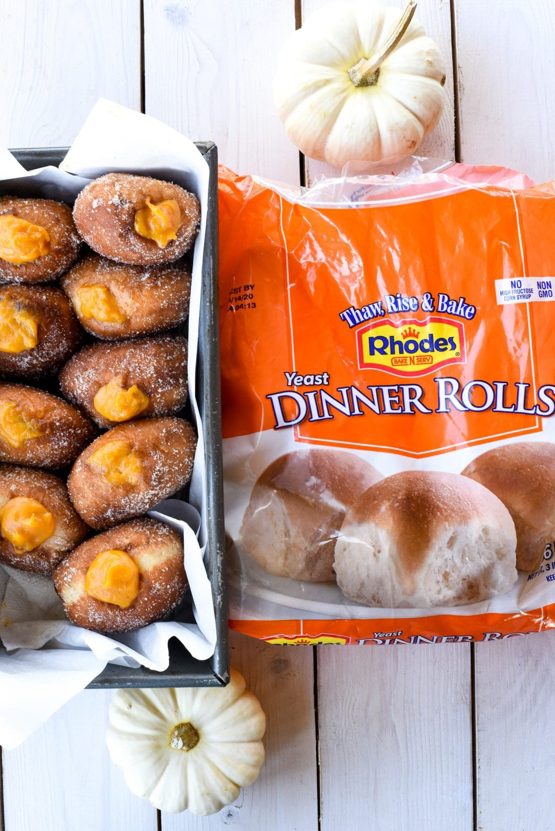 Easy Pumpkin Creme Donuts