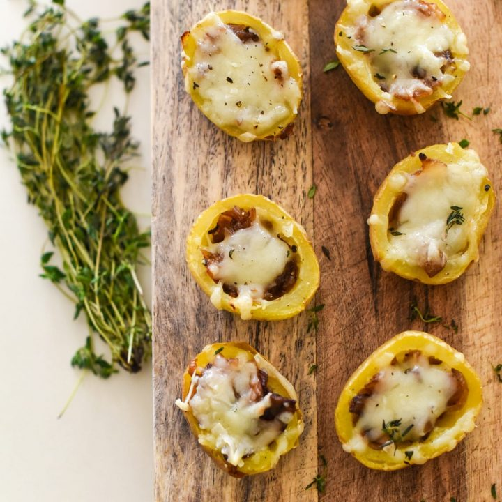 French Onion & Mushroom Potato Skins
