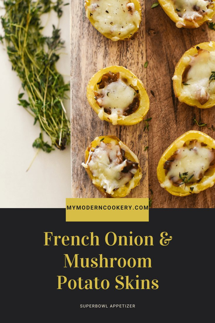 French Onion & Mushroom Potato Skins