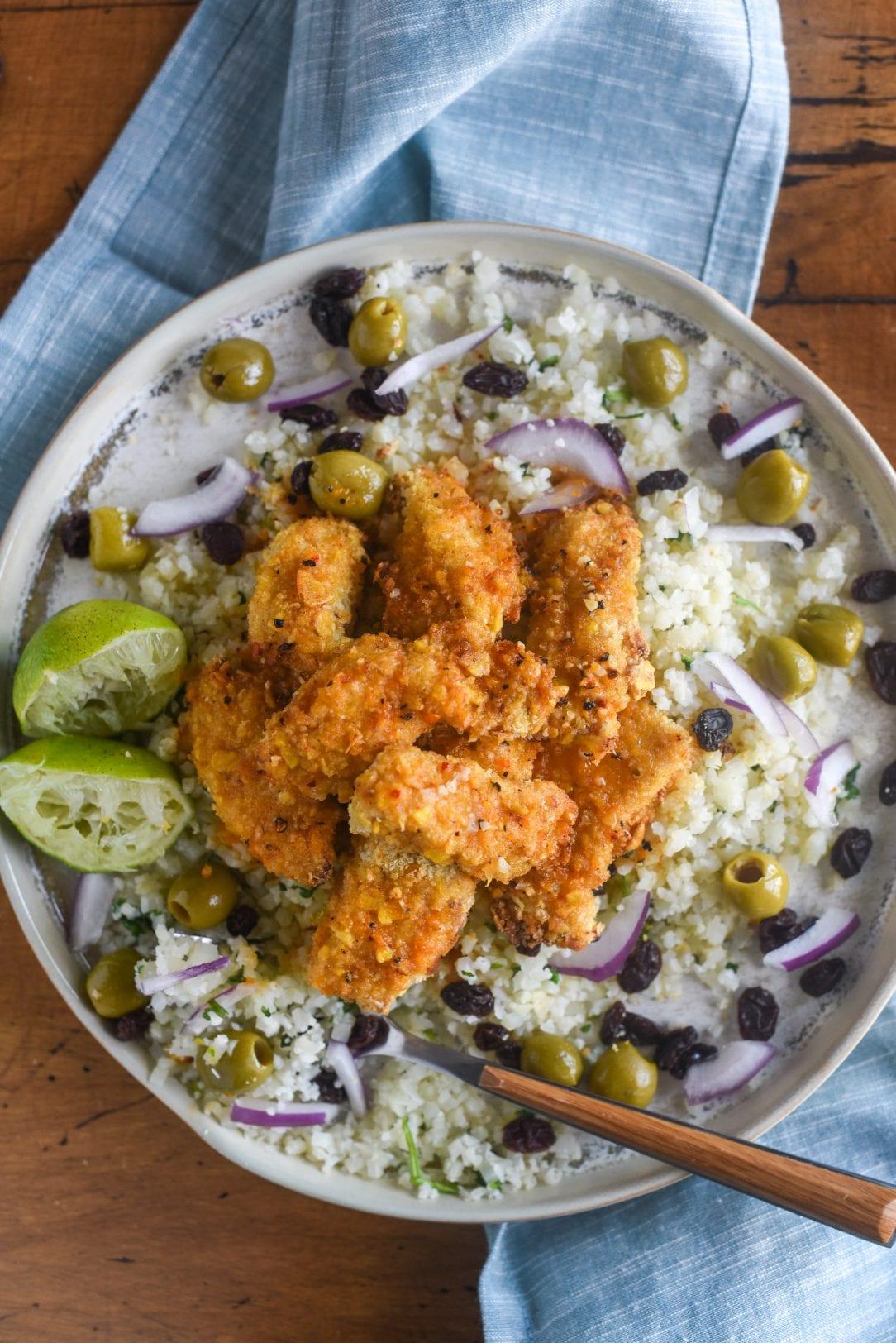 Whole30 Cuban Chicken and Cauliflower Rice