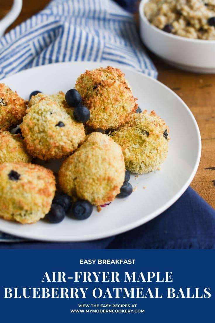 Air-Fryer Maple Blueberry Oatmeal Balls