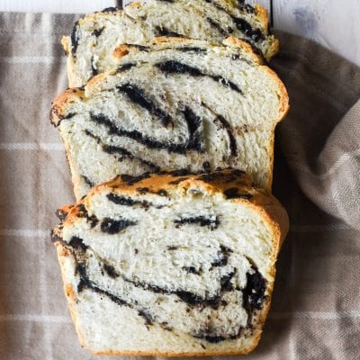 Cookies and Cream Swirled Bread