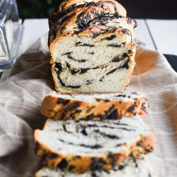 Cookies and Cream Swirled Bread