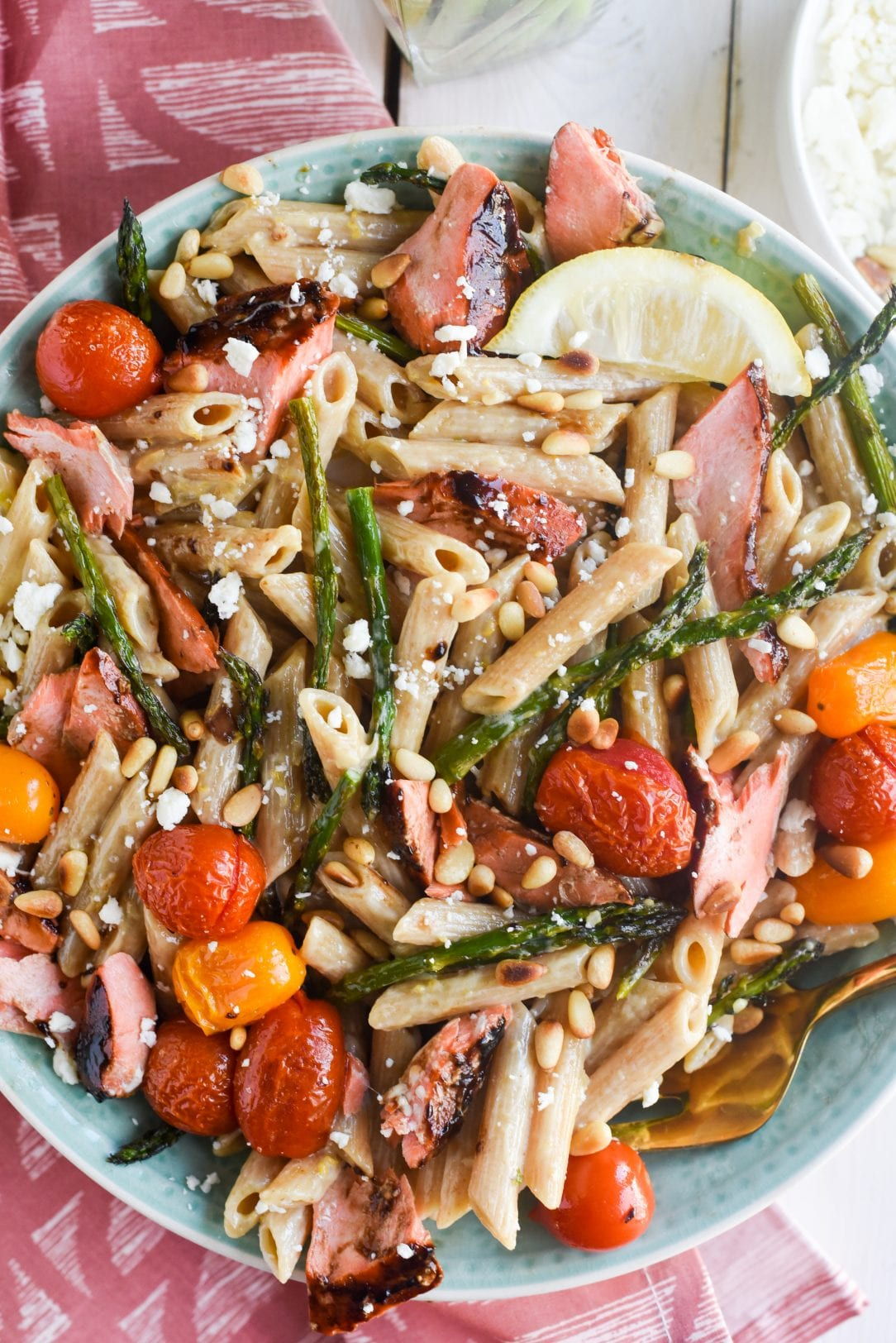 Spring Roasted Salmon Pasta