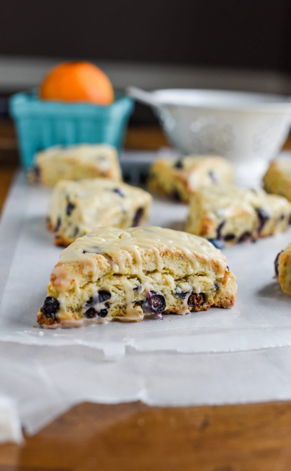 Easter might look a little different this year, but that doesn't mean brunch doesn't go on! These Blueberry Citrus Scones will be the perfect addition!