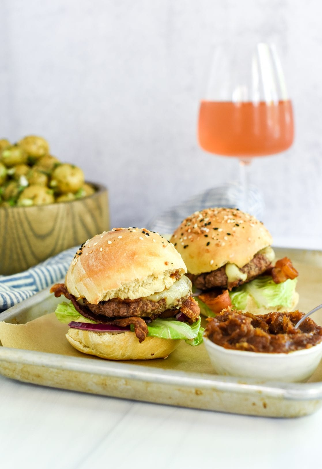 Smash Burger Sliders with Spicy Date Spread