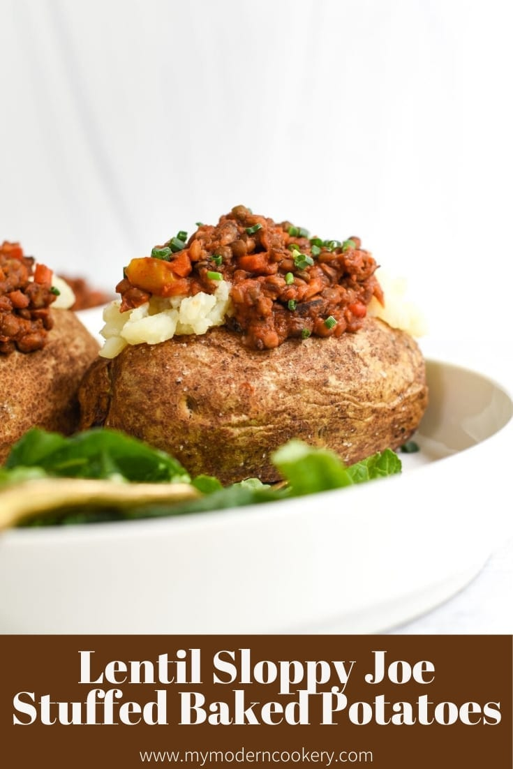Lentil Sloppy Joe Stuffed Baked Potatoes