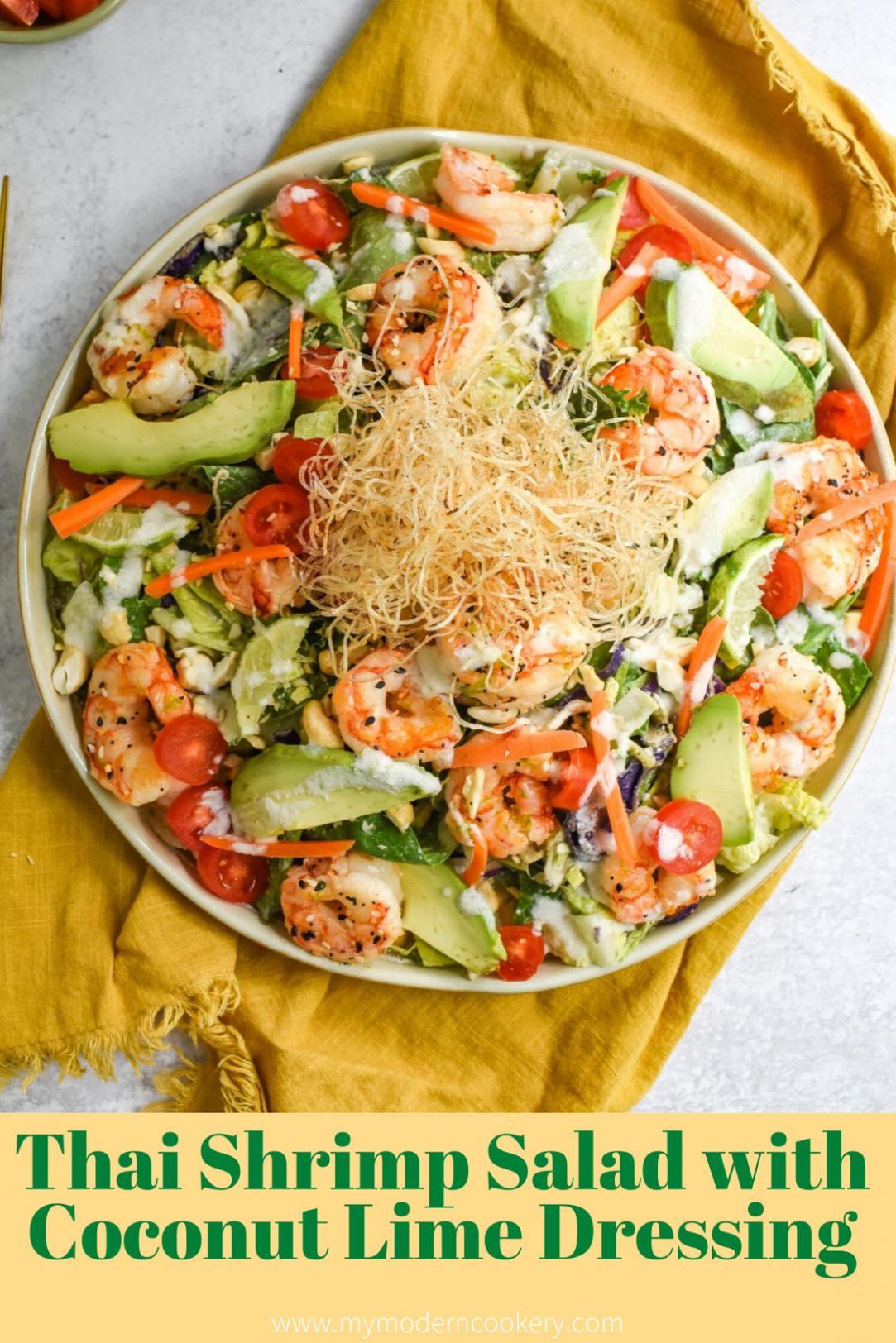 Thai Shrimp Salad with Coconut Lime Dressing