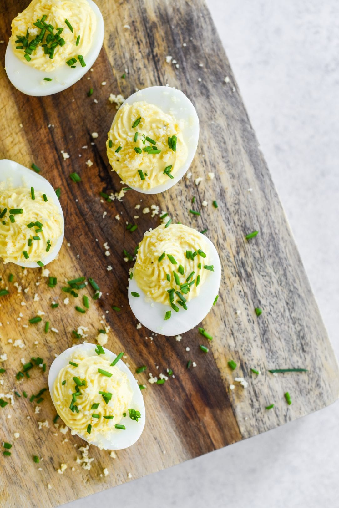 Sour Cream and Cheddar Deviled Eggs