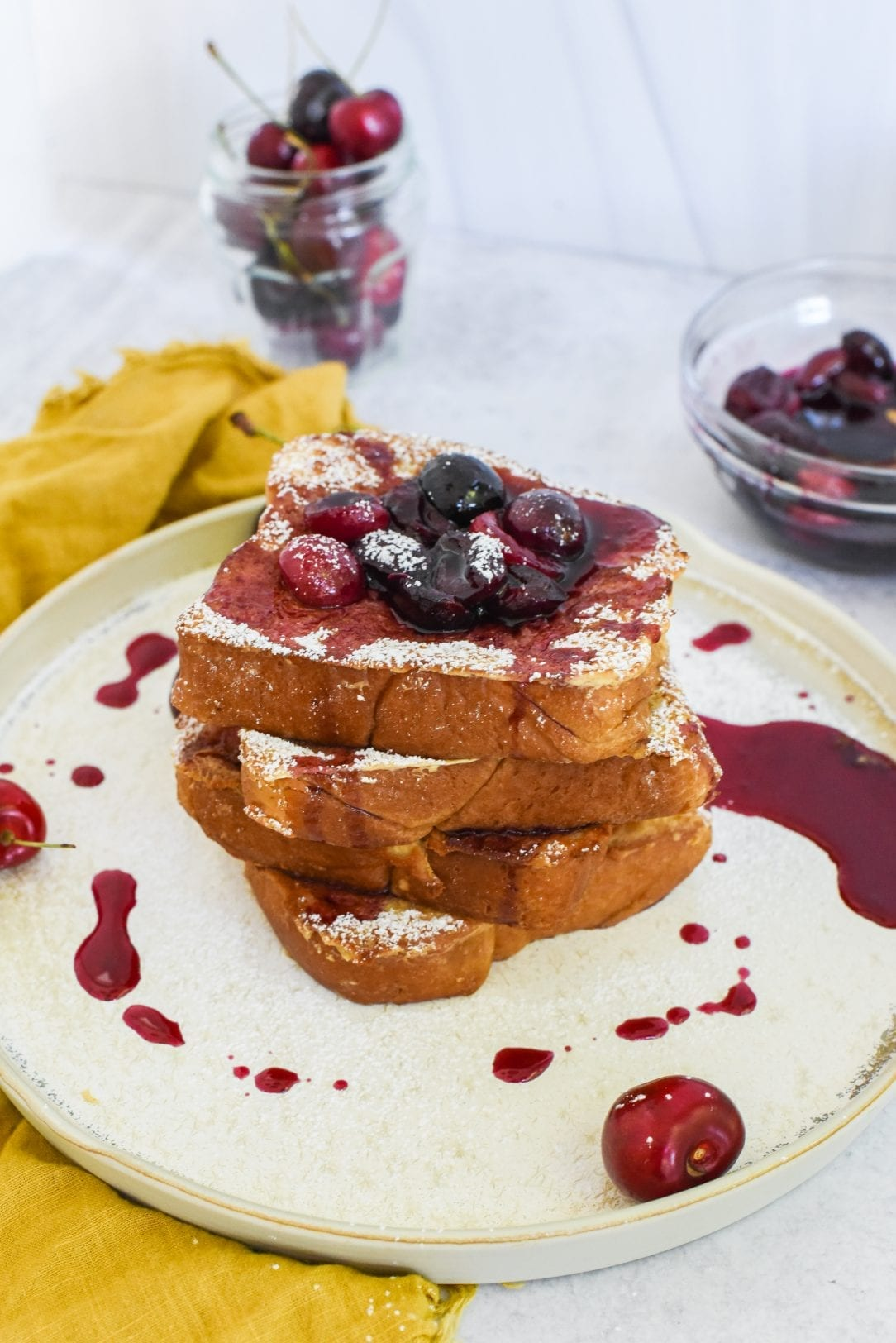 Old-Fashioned Cherry French Toast