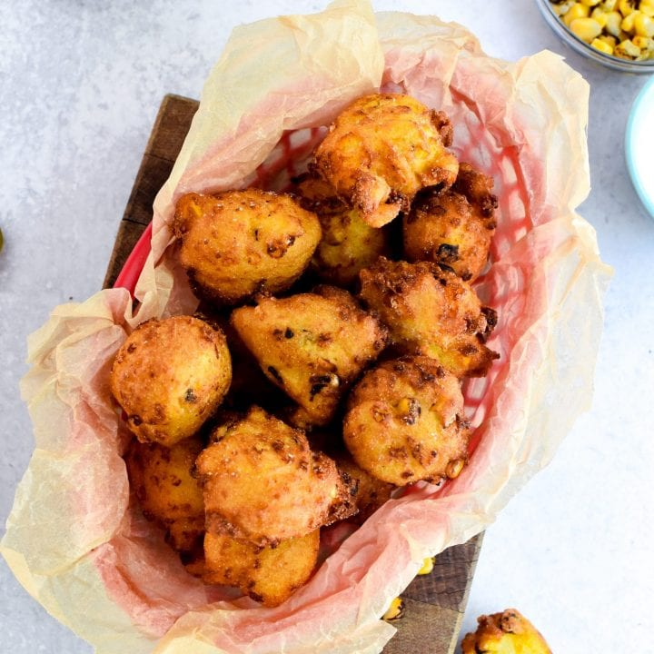 Corn and Pepper Jack Hush Puppies