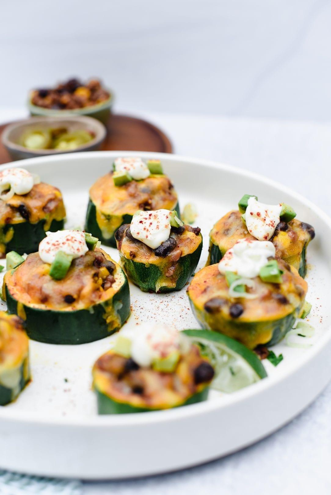 Veggie Zucchini Taco Bites