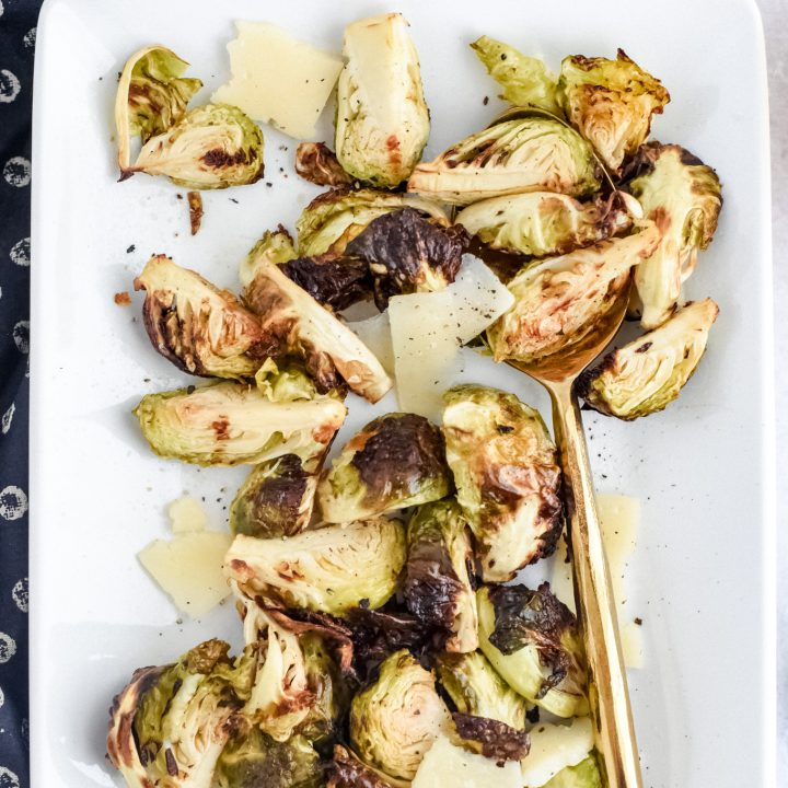 Air Fryer Salt and Vinegar Brussels Sprouts