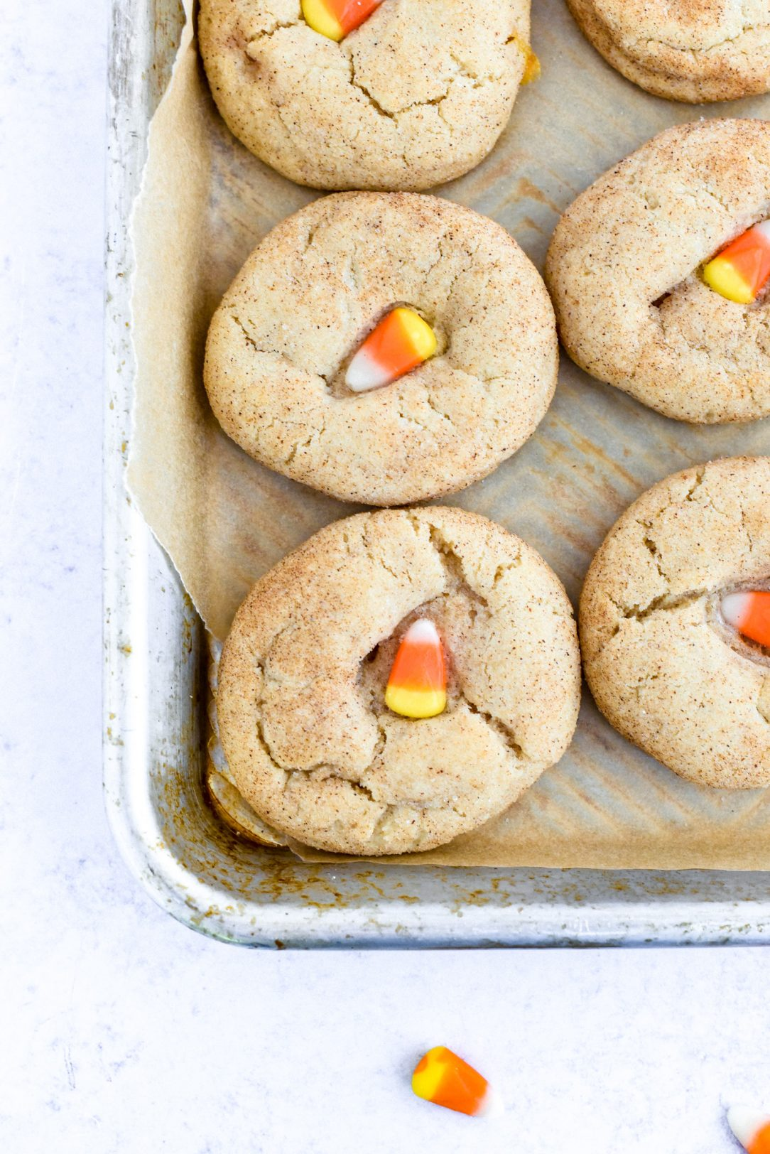 Candy Corn Snickerdoodles