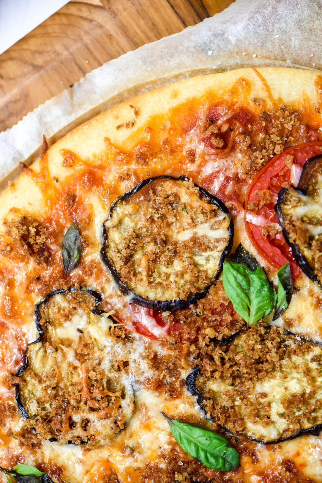 Best Eggplant Parmesan Pizza