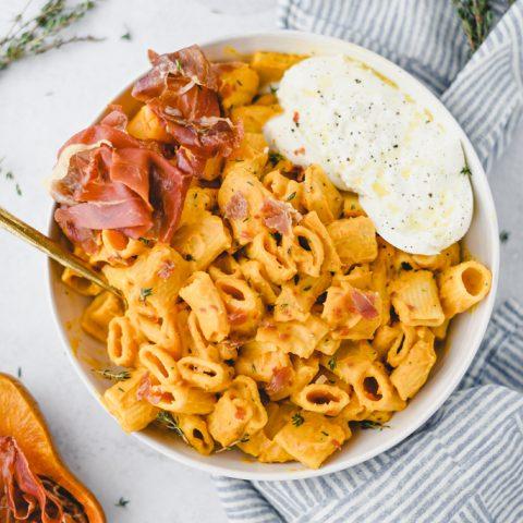 Creamy Honey Nut Squash Pasta