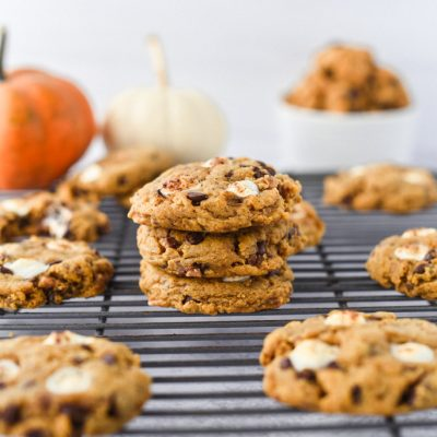 Pumpkin Marshmallow Toffee Cookies