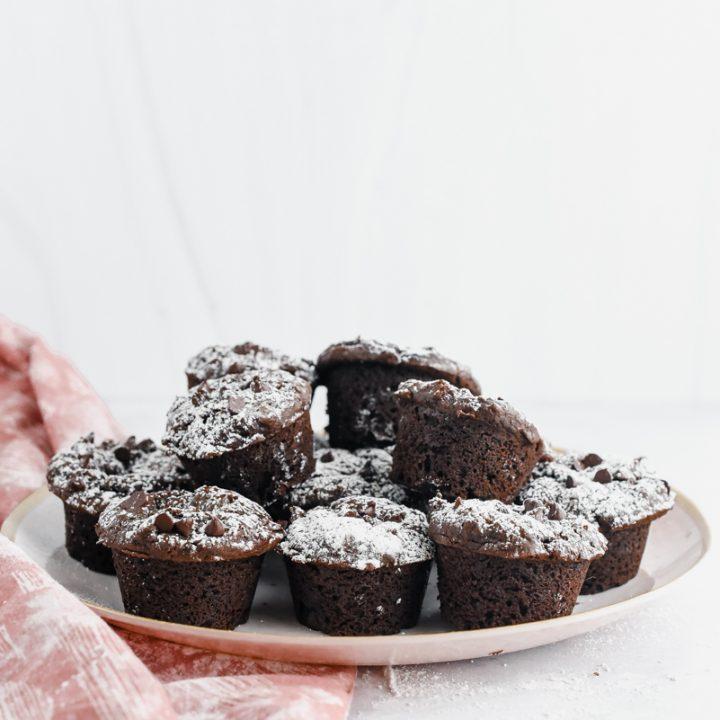 Chocolate Gingerbread Mini Muffins
