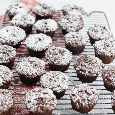 Chocolate Gingerbread Mini Muffins