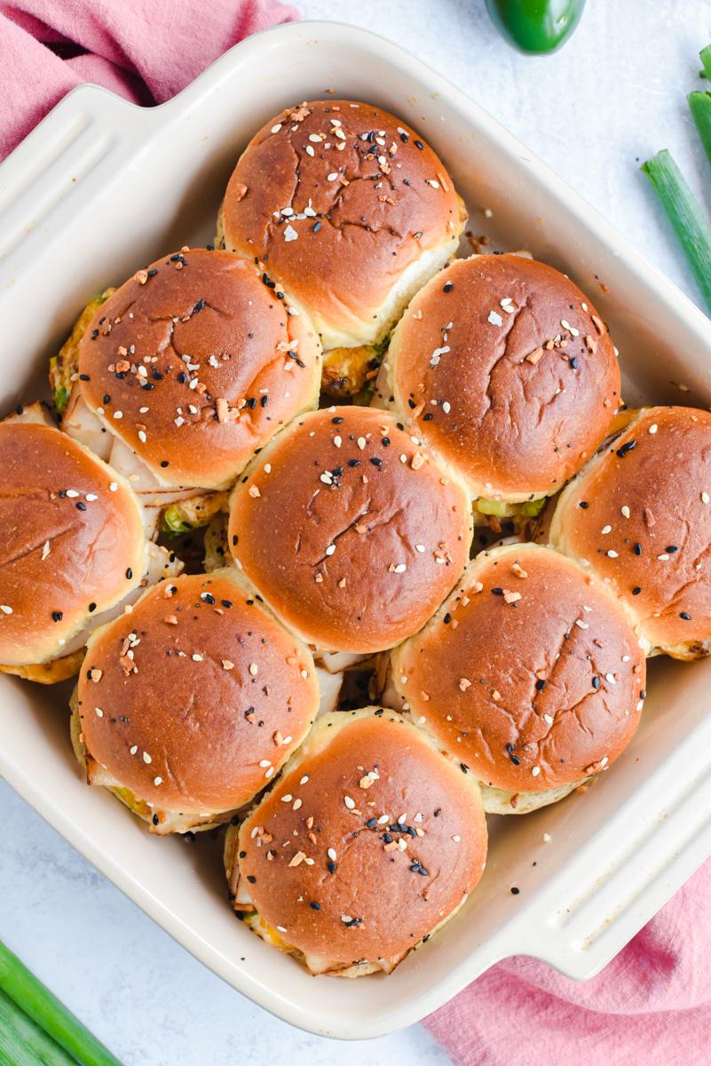 sandwiches sitting in baking dish