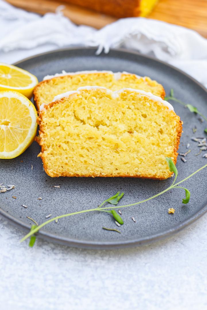 Lavender Honey Soaked Lemon Cake