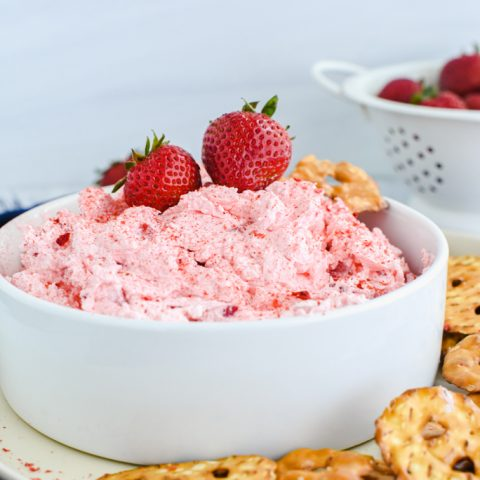 Fluffy Strawberry Pretzel Dip