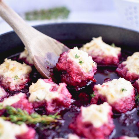 Blackberries and Thyme Dumplings